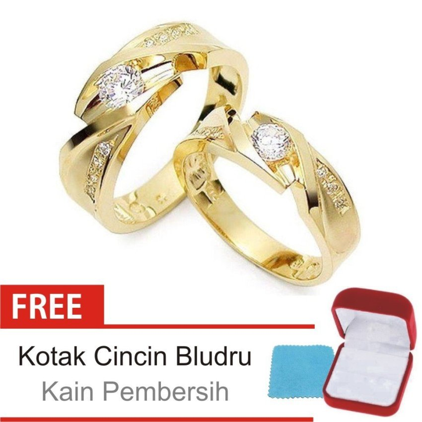 Bella & Co ANGEL HEART Couple Ring Cincin Tunangan Cincin Pernikahan Silver 925 . Source ·