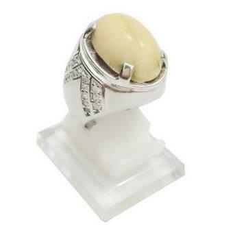 Cincin Perak 925 Lapis Emas Putih - CLB36   Lazada Indonesia
