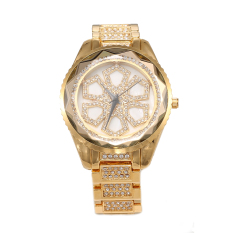 CITOLE HEMNEZ Authentic Korean Fashion Trend Diamond Jewelry Watches Fashion Table Quartz Watch Waterproof And Shockproof (Gold) (Intl)