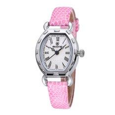 CITOLE SKONE 2016 Thin PU Leather Strap Rose Gold Watches Women Analog Quartz Mvmt Watch Woman Fashion Casual Ladies Relogio Feminino (Black)