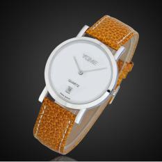 CITOLE YOME Genuine Lovers Swiss Quartz Watch Korean Men's Minimalist Leather Watch Y1320M (1 X Men Watch)