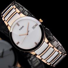 CITOLE YOME's Watch Is Brand Mens Watch Waterproof Fashion Quartz Watch Fine Steel Lovers Fashion Watch (1 X Women Watch)