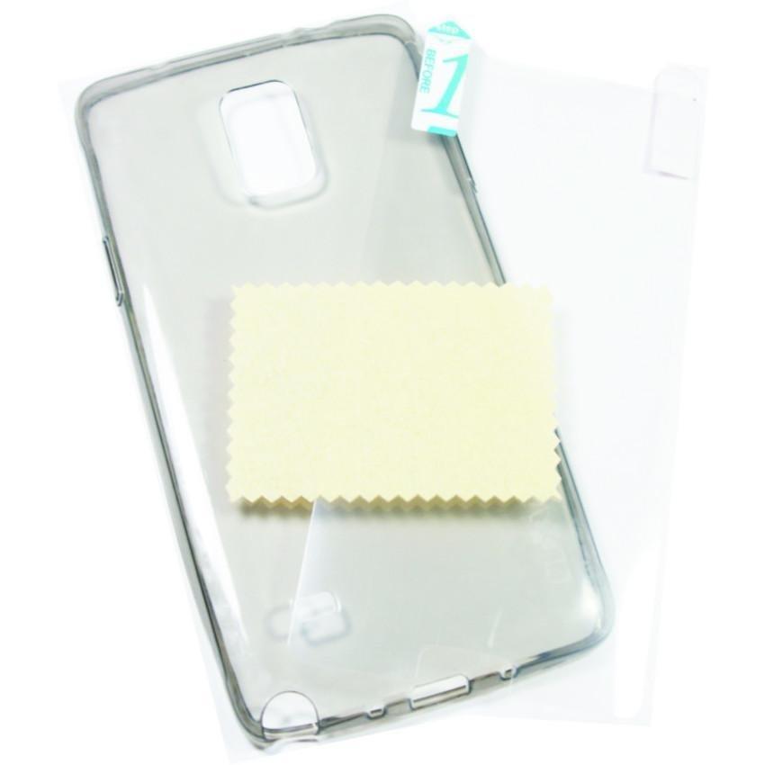 Clover Ultra Fit Air Soft Case Samsung Galaxy Note 4 Casing Cover Soft - Hitam