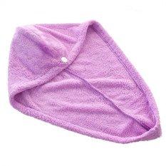 Coconiey Magic Quick Dry Hair Towel Ponytail Towel Lady Microfiber Hair Towel Purple - Intl