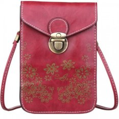 Cocotina Women Girl Mini Crossbody Messenger Bag Purse Shoulder Mobile Phone Handbag - Wine Red- Intl