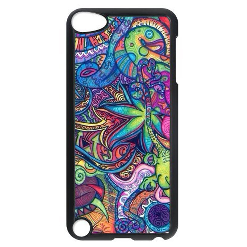 Colorful Abstract Phone Case for iPod Touch 4 (Black)