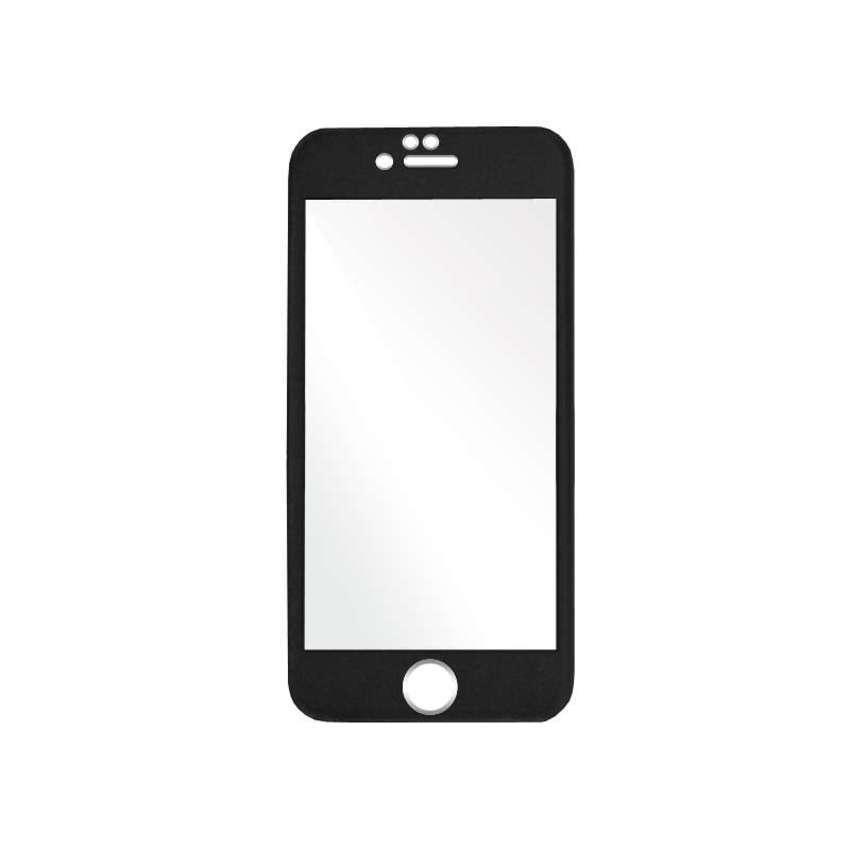 Colorful Tempered Titanium Glass for iPhone 6 - Hitam