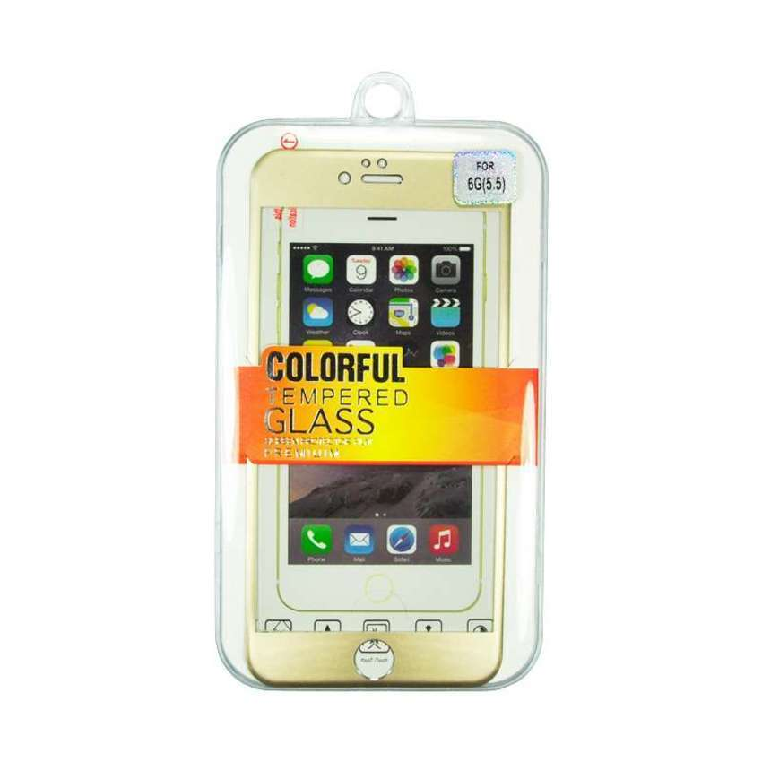 Colorful Tempered Titanium Glass for iPhone 6 Plus - Gold