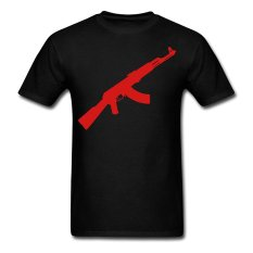 CONLEGO Funny Cotton Men's Ak Forty Seven T-Shirts Black