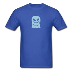 CONLEGO Personalize Men's Naughty Halloween Ghost T-Shirts Royal Blue