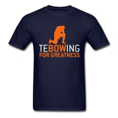 CONLEGO Personalize Men's Tebowing For Greatness T-Shirts Navy