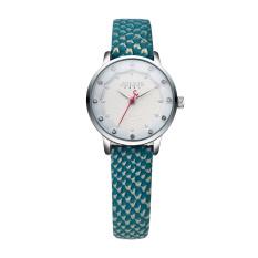 Coobonf 2016 Julius Top Women Dress Watches Alloy Water Wave Dial Quartz-Watch Leather Wrist Watch For Girls Clock Reloj Mujer JA858