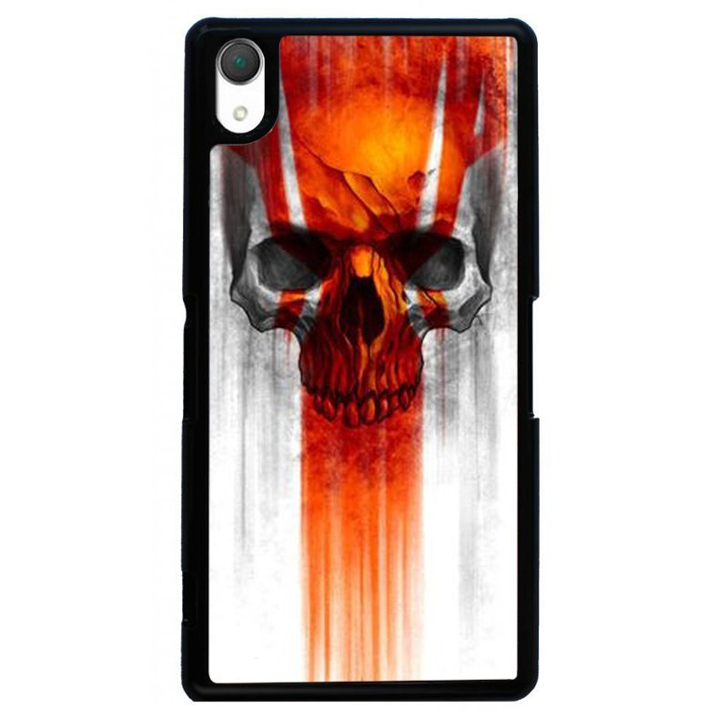 Cool Skull Painting Phone Case for SONY Xperia Z2 (Black)