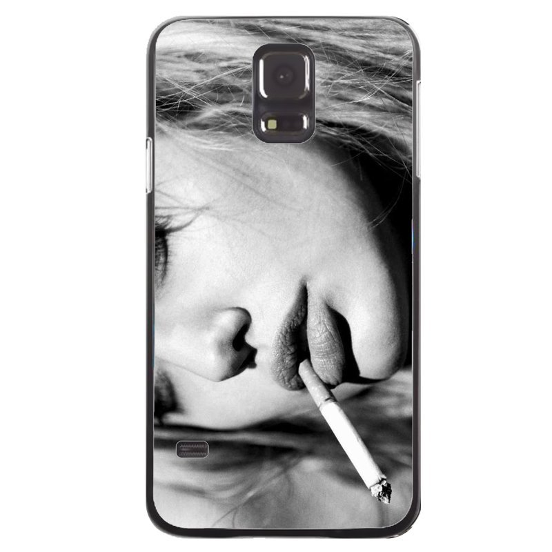 Cool Smoking Girl Painting Phone Cover For Samsung Galaxy S5 (Black)