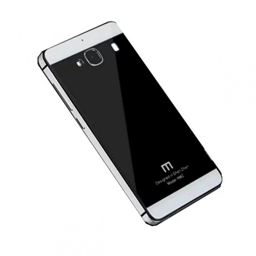 Cover Backcase Tempered Glass Hard Case Aluminium For Xiaomi Redmi 2s / Redmi 2 Prime - Grey / Black