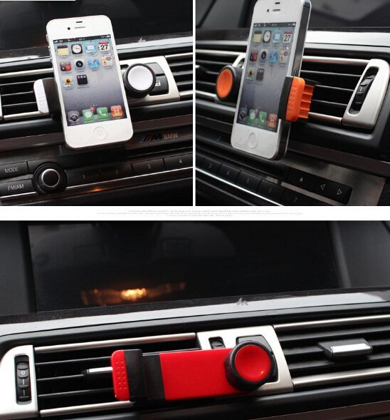Creative Air Outlet Car Phone Holder (Red) (Intl)