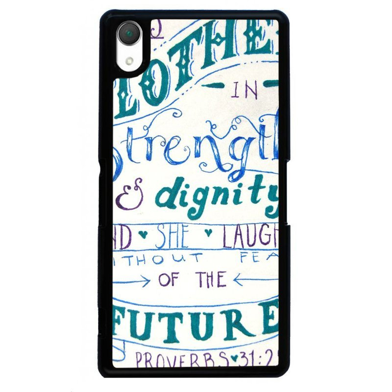 Creative Hand Printed Cover For Sony Xperia Z4 (Black)