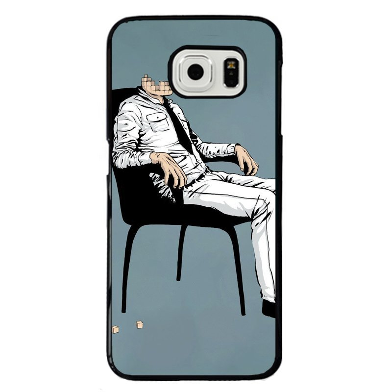 Creative Headless Man Printed Phone Case for Samsung Galaxy S6 (Multicolor)