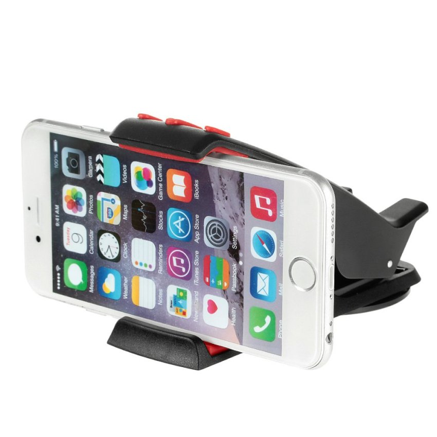 Creative Hippo Mouth Style Adjustable Car Mount Stand Holder for GPS Cellphone - (Black + Red) (Intl)