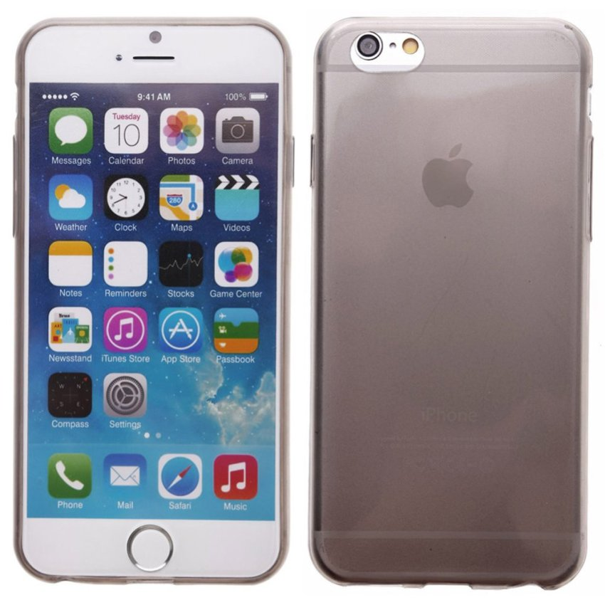 Crystal Soft Back Case for iPhone 6 (Grey)