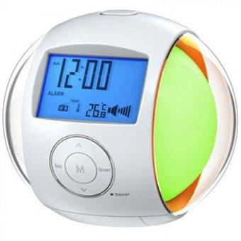 custom nature sound alarm digital lcd clock with 7 color led lighting calendar fm radio lazada. Black Bedroom Furniture Sets. Home Design Ideas