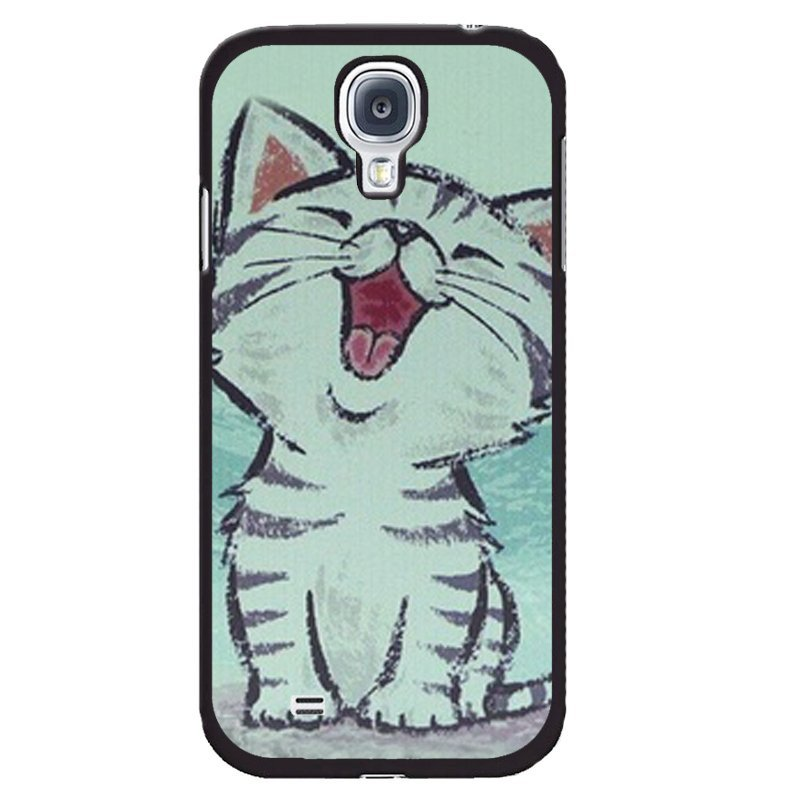 Cute Smile Kitten Painting Phone Case for Samsung Galaxy Mega 6.3 (Multicolor)