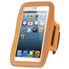 Cycling Running Mobile Sport Adjustable Strap Arm Band Case Cover For IPhone 6 6S (Orange)