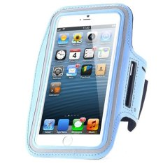 Cycling Running Mobile Sport Adjustable Strap Arm Band Case Cover For IPhone 6 6S Plus (Blue) (Intl)