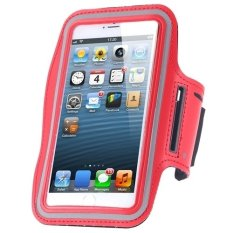 Cycling Running Mobile Sport Adjustable Strap Arm Band Case Cover For IPhone 6 6S (Red) (Intl)