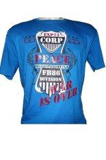 Cyl Kaos T-Shirt Distro Peace - Size M - Biru
