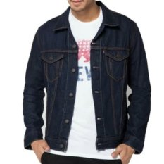 D1NY Collection Jaket Denim Jeans Ariel Pria Biru Garmen