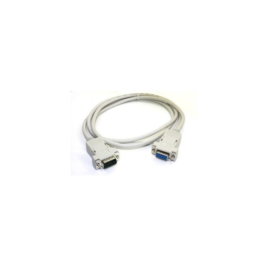 DB9 Serial 3ft Male to Female 9 Pin Extension Cable White
