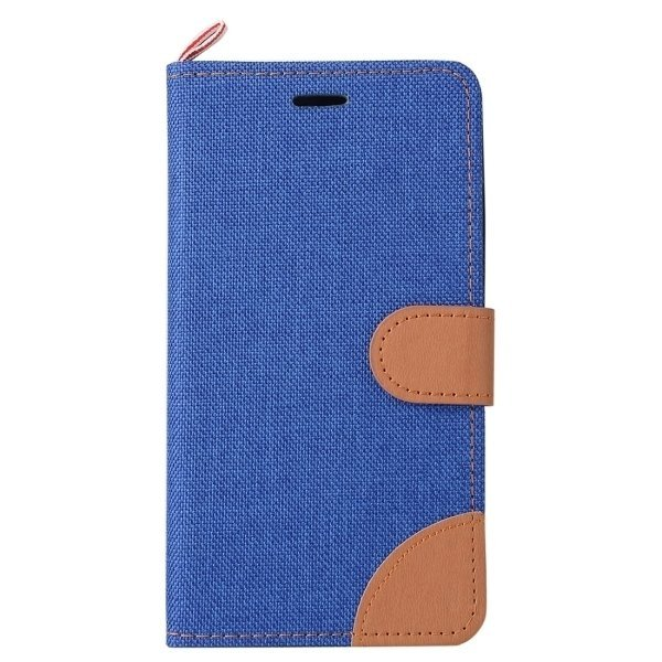Denim Texture Horizontal Flip Leather Case with Card Slots & Holder for Lenovo A6000 (Dark Blue) (Intl)