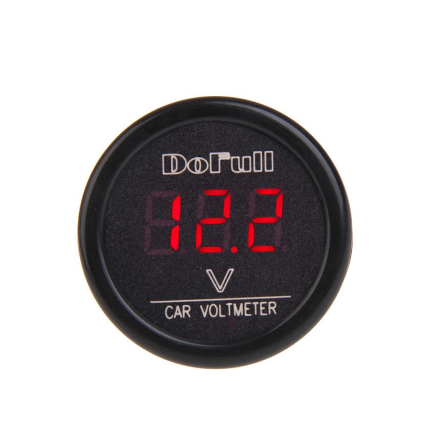 DF-01-V Car Voltmeter Cigarette Lighter Charger Red Digital Display (Intl)