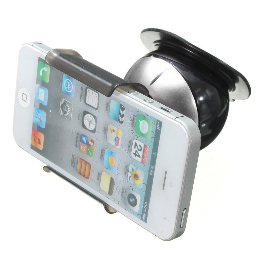 DHS 360° Car Dashboard Windscreen Suction Mount Holder for Mobilephone (White) (Intl)