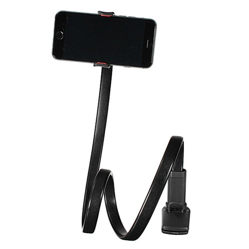 DHS. 360° Lazy Phone Clip Long Flexible Holder Stand Bracket Black (Intl)