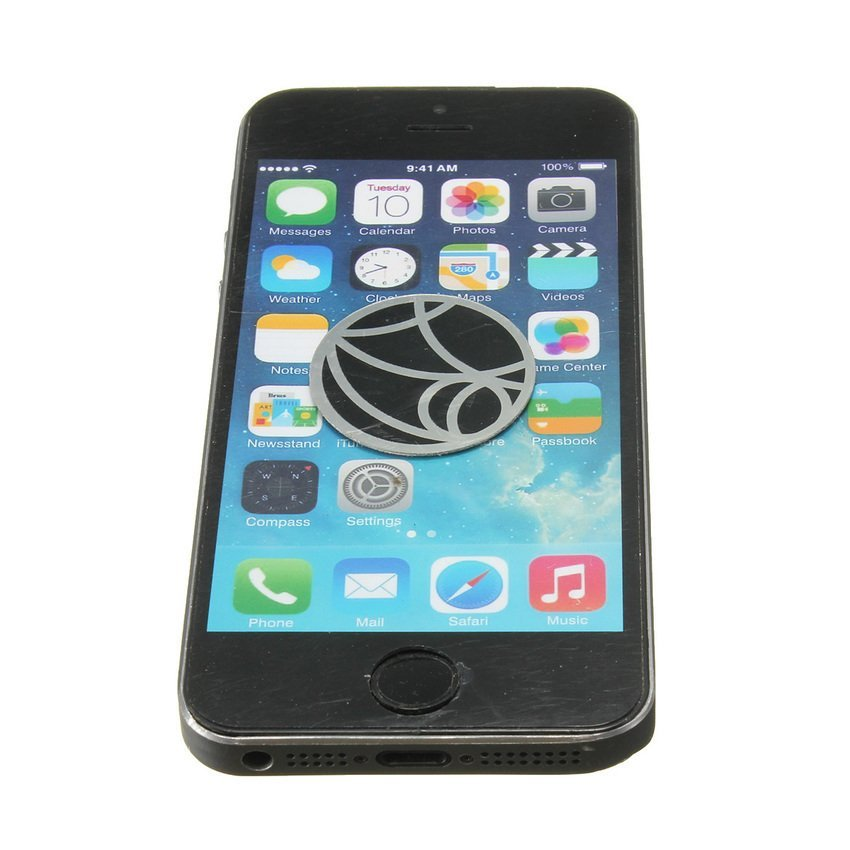 DHS Car Magnetic Mobile Holder Universal Phone Mount for iPhone 5 6 Plus (Black) (Intl)