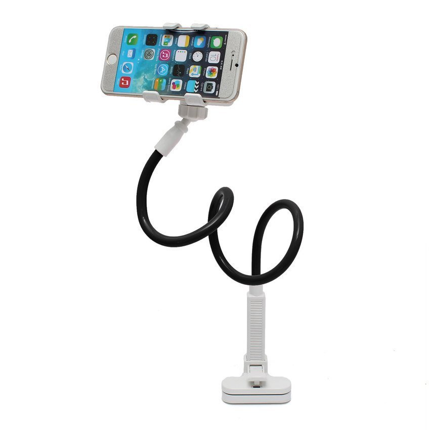 DHS Telescopic Plastic Clamp Holder Cradle Stand Mount for Mobile Smart Phone Tablet (Black) (Intl)