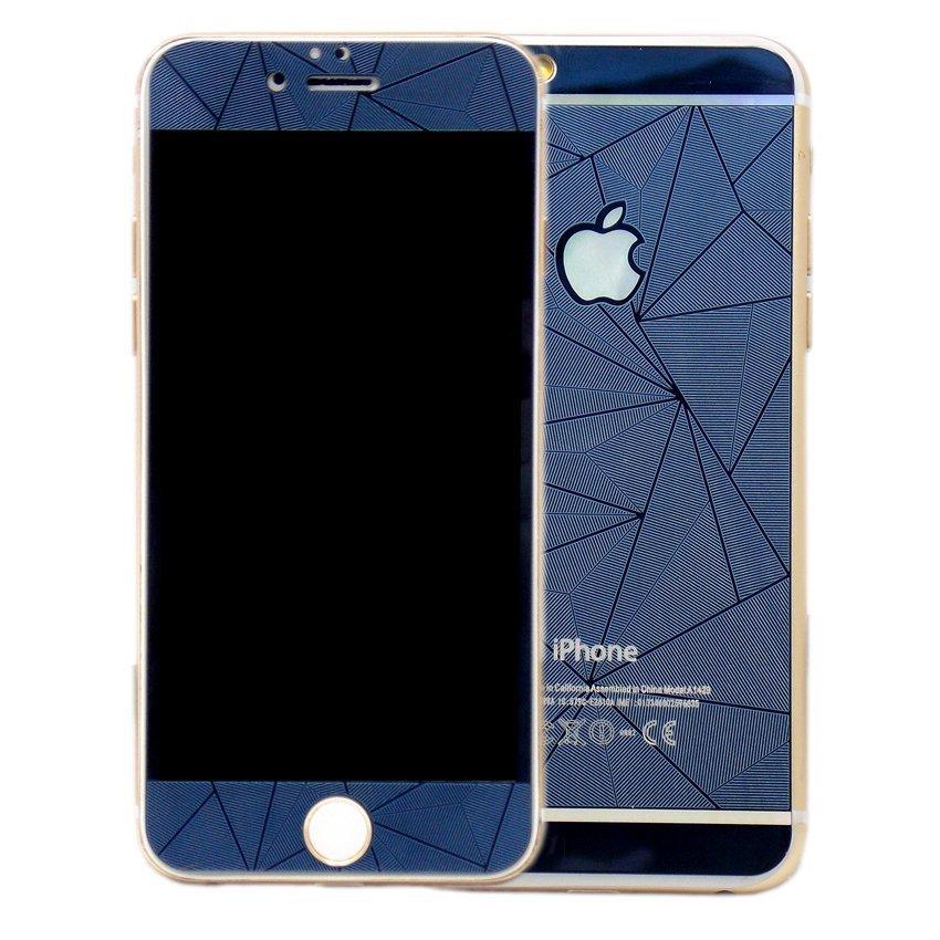 Diamond Tempered Glass Diamond for I-Phone 4G - Biru