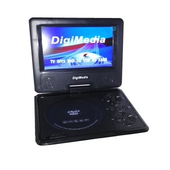 "DigiMedia DVD Portable Dan TV 9"" - Radio DM-938FM - Hitam"