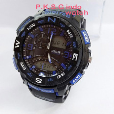 Digitec Dual Time - Jam Tangan Sport Pria - Rubber Strap - DG2057 BLACK LIST BLUE