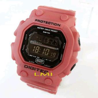 Digitec Original - DG2012MR - Jam Tangan Pria - Karet - Merah