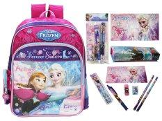 Disney Frozen Original Backpack Forever Sisters & Stationery Set - FZ 924023