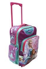 Disney Frozen Original Big Trolley Bag New Arrival - FZ 924034 - Ungu