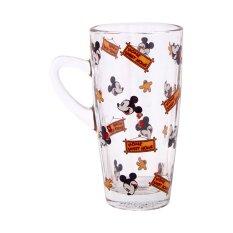 Disney Minnie Mouse Slim Glass Mug 320 Ml Merah