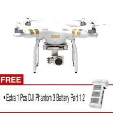 DJI Phantom 3 Professional 4K 3-Axis Gimbal - Putih + Gratis DJI Phantom 3 Battery Part 1 2