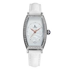 Dmscs IK Apa Qi New Diamond Female Table Steel Quartz Watch Ladies Watch Fashion Watch 98454L2 (White)