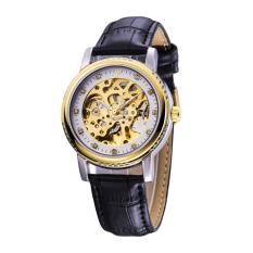 Dmscs New Fashion Diamond Automatic Watch Men Mechanical Watches Watch Dial Hollow Gold Belt