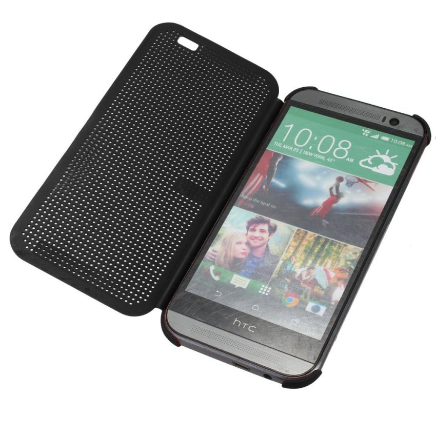 Dot View Flip Cover for HTC One M8 (Black) (Intl)