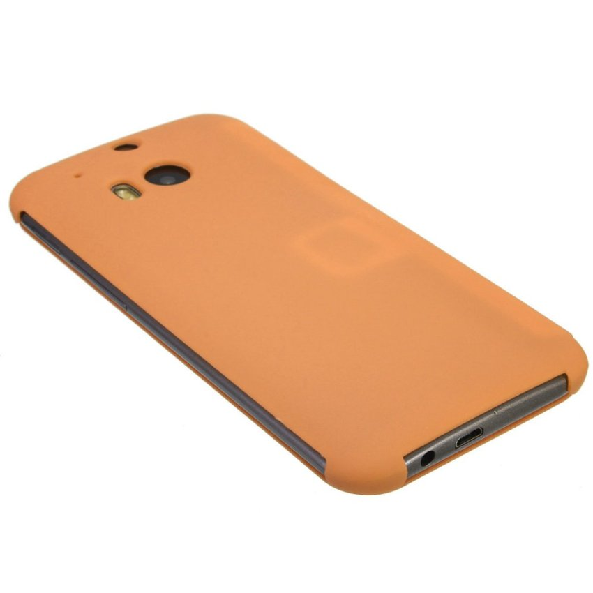 Dot View Flip Cover for HTC One M8 (Orange) (Intl)